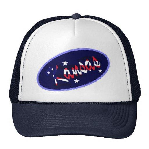 Chapéu bordado EUA do efeito de Kansas Bonés