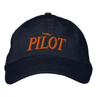 Chapéu bordado piloto do avião bone