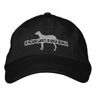 Chapéu bordado Ridgeback de Rhodesian da silhueta Boné Bordado