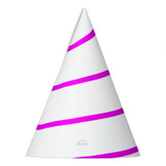 Chapéu branco esboçado rosa do partido do chifre