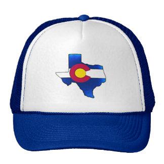 Chapéu brilhante do esboço de Texas da bandeira de Boné