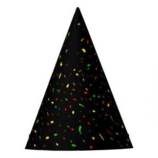 Chapéu brilhante preto do partido dos confetes