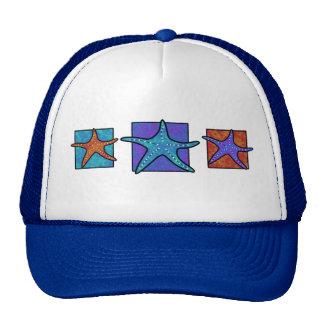 Chapéu colorido da estrela do mar bone