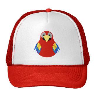 Chapéu colorido do papagaio bonés