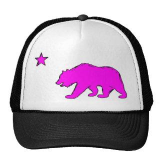 Chapéu cor-de-rosa de néon do urso da bandeira de  boné