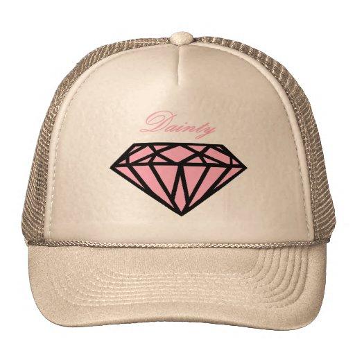 Chapéu cor-de-rosa do diamante bonés