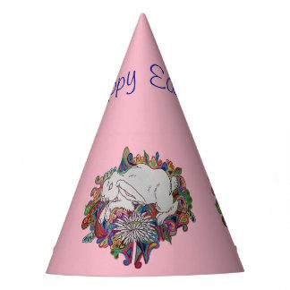 chapéu cor-de-rosa do partido da páscoa do coelho