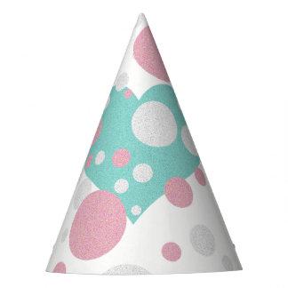 Chapéu cor-de-rosa e azul do partido de chá das