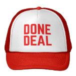Chapéu corajoso vermelho FEITO do camionista do Bonés