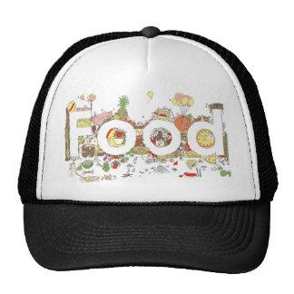 Chapéu criativo do texto do foodie engraçado da boné