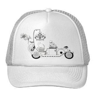 Chapéu curioso do carro fúnebre da praga boné