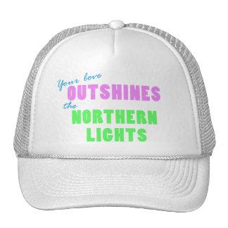 Chapéu da aurora boreal boné
