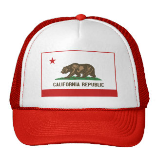 Chapéu da bandeira de Califórnia Bone