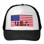 Chapéu da bandeira dos EUA Bonés