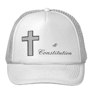 Chapéu da cruz & da constituição da imagem boné