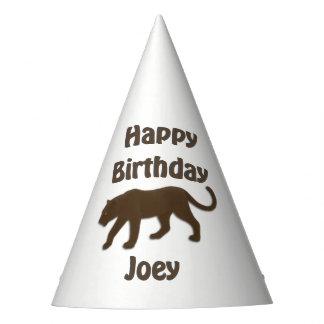 Chapéu da festa de aniversário da pantera de