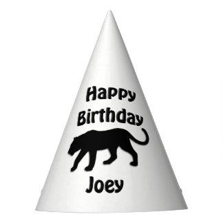 Chapéu da festa de aniversário da pantera preta