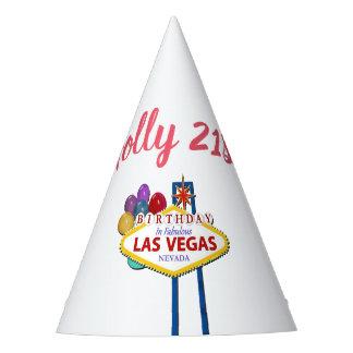 Chapéu da festa de aniversário de Las Vegas do