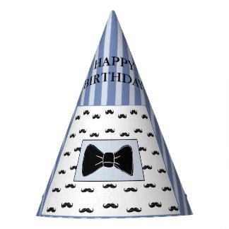 Chapéu da festa de aniversário do bigode e do laço