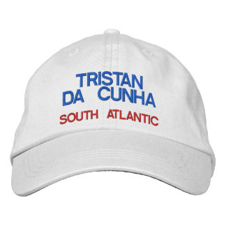 Chapéu da ilha de Tristan a Dinamarca Cunha* Boné Bordado
