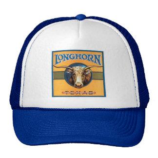 Chapéu da imagem de Texas Longhorn do vintage Bonés