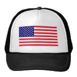 Chapéu da malha do camionista da bandeira dos EUA Bones