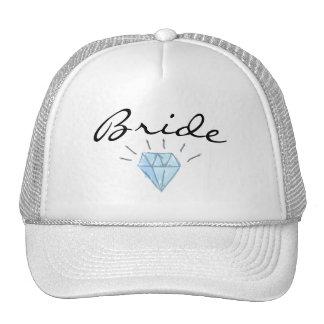Chapéu da noiva - arte da borda e do diamante boné