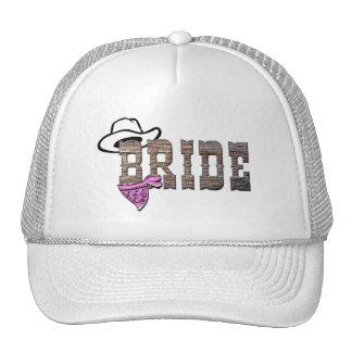 Chapéu da noiva da vaqueira boné