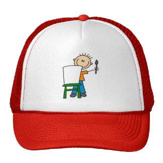 Chapéu da pintura do menino boné