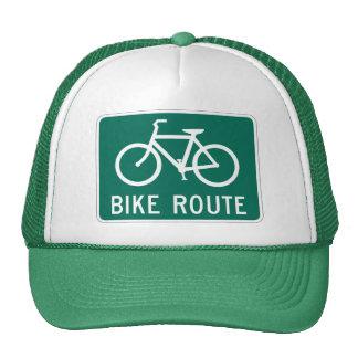 Chapéu da rota da bicicleta bones