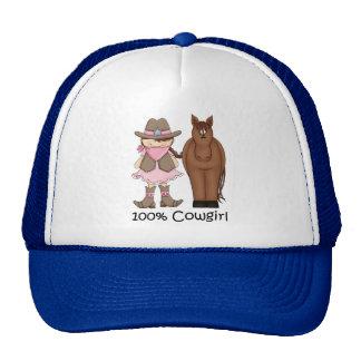 Chapéu da vaqueira 100% e do cavalo boné