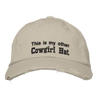 Chapéu da vaqueira boné bordado