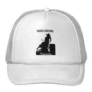Chapéu da vaqueira do rodeio boné