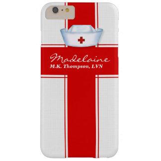 Chapéu das enfermeiras no costume vermelho e capas iPhone 6 plus barely there
