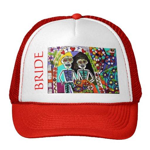 - Chapéu de Bachelorette - casal mexicano vermelho Boné