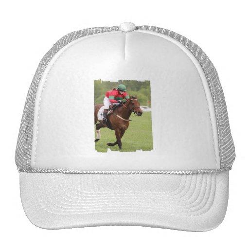 Chapéu de basebol da corrida de cavalos bones