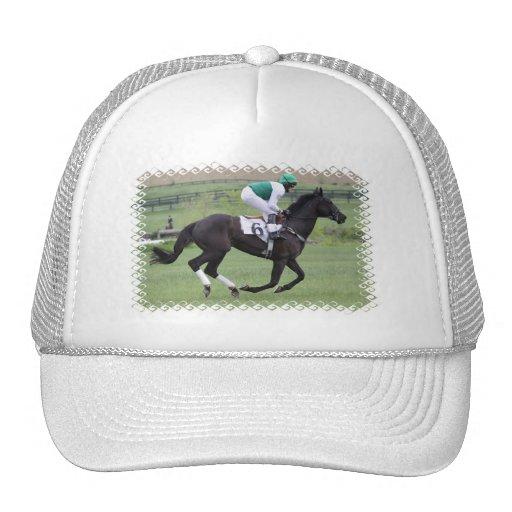 Chapéu de basebol de galope do cavalo de raça bone