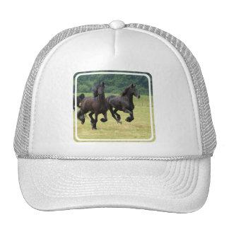 Chapéu de basebol de galope dos cavalos do frisão bone