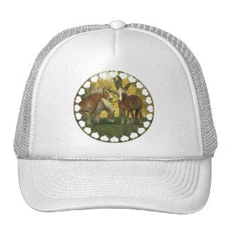 Chapéu de basebol dos cavalos de esboço do Palomin Bone