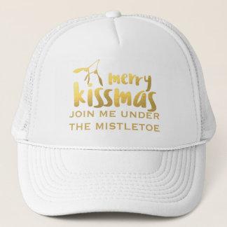 Chapéu de beijo do camionista do visco alegre de boné