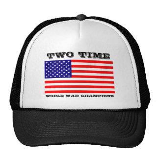 Chapéu de dois campeões da guerra mundial do tempo boné