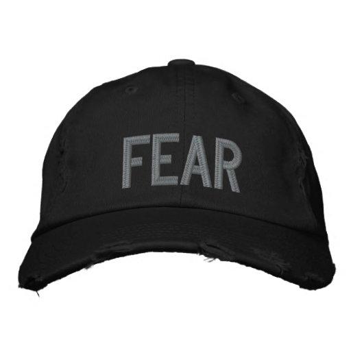 Chapéu de Embroided do MEDO Boné Bordado
