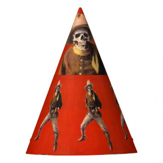 Chapéu de esqueleto do partido do vaqueiro do