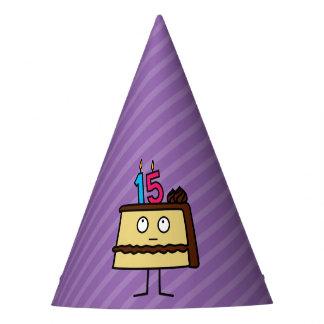 Chapéu De Festa 15o Bolo de aniversário com velas