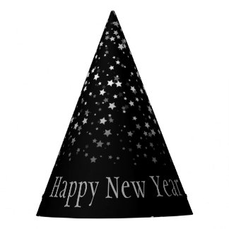 Chapéu De Festa A pequeno prata Stars o feliz ano novo