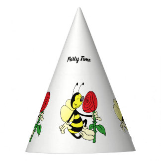Chapéu De Festa Abelha da vespa do zangão preto e amarelo com uma