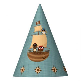 Chapéu De Festa Aniversário azul bonito do miúdo de serapilheira