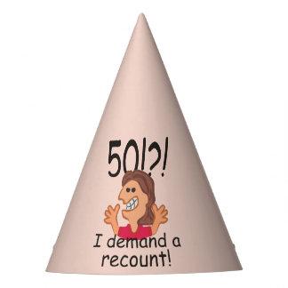 Chapéu De Festa Aniversário da descrição engraçada 50th