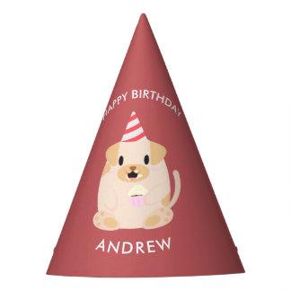 Chapéu De Festa Aniversário de criança adorável do cão de filhote