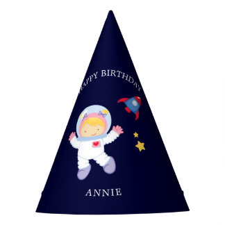 Chapéu De Festa Aniversário de criança da menina do astronauta
